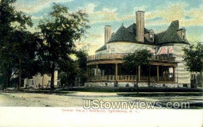 Senator Malby's Residence - Ogdensburg, New York NY Postcard