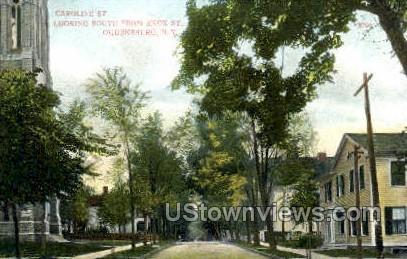 Caroline St. - Ogdensburg, New York NY Postcard