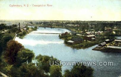 Oswegatchie River - Ogdensburg, New York NY Postcard
