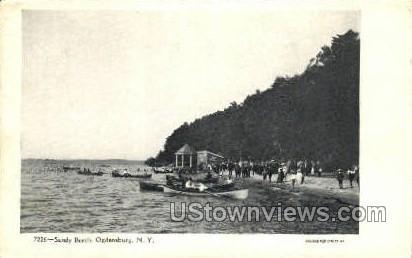 Sandy Beach - Ogdensburg, New York NY Postcard