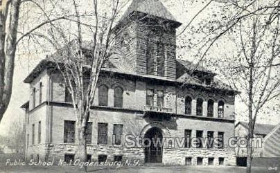 Public School No. 1 - Ogdensburg, New York NY Postcard