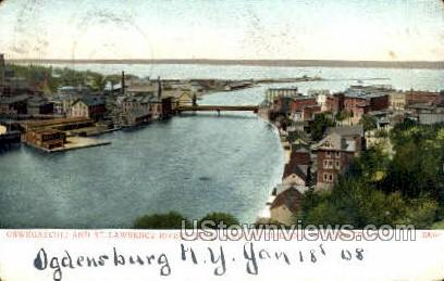 St. Lawrence Rivers - Ogdensburg, New York NY Postcard