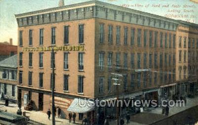 Ford & State Street - Ogdensburg, New York NY Postcard