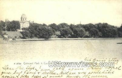 Crescent Park & Custom House - Ogdensburg, New York NY Postcard