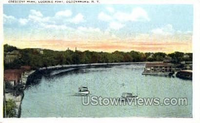 Crescent Park - Ogdensburg, New York NY Postcard