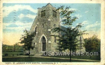 Chapel, St. Lawrence State Hospital - Ogdensburg, New York NY Postcard
