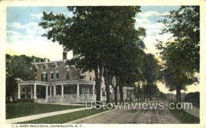 L.C. Nash Residence - Ogdensburg, New York NY Postcard
