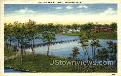 The Dam & Waterfall - Ogdensburg, New York NY Postcard