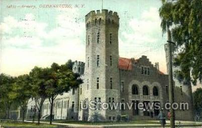Armory - Ogdensburg, New York NY Postcard