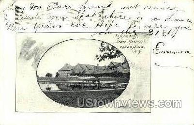 Infirmary, State Hospital - Ogdensburg, New York NY Postcard