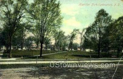 Hamilton Park - Ogdensburg, New York NY Postcard