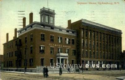 Seymour House - Ogdensburg, New York NY Postcard