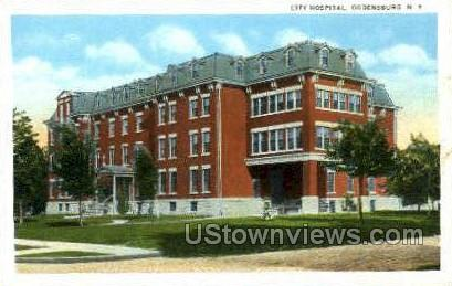 City Hospital - Ogdensburg, New York NY Postcard