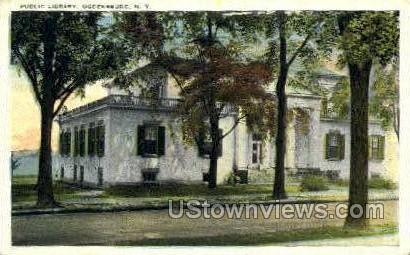Public Library - Ogdensburg, New York NY Postcard