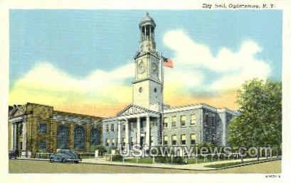 City Hall - Ogdensburg, New York NY Postcard