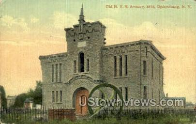 Old N.Y.S. Armory - Ogdensburg, New York NY Postcard