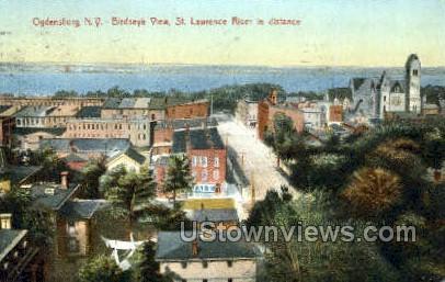 St. Lawrence River - Ogdensburg, New York NY Postcard