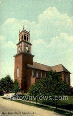 Notre Dame Church - Ogdensburg, New York NY Postcard