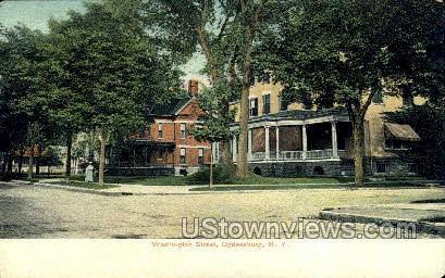 Washington St. - Ogdensburg, New York NY Postcard