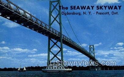 The Seaway Skyway - Ogdensburg, New York NY Postcard