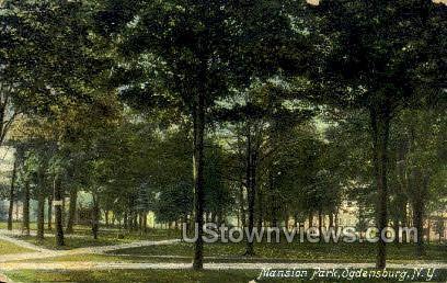 Mansion Park - Ogdensburg, New York NY Postcard