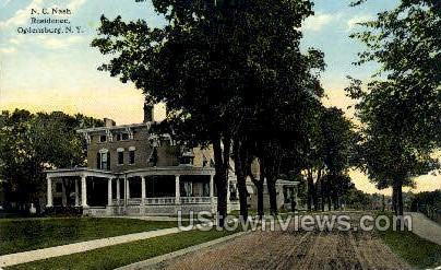 N.C. Nash Residence - Ogdensburg, New York NY Postcard