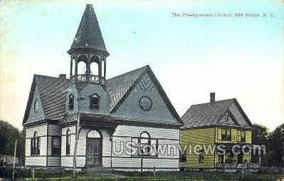 Presbyterian Church - Old Forge, New York NY Postcard