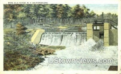 Dam - Old Forge, New York NY Postcard
