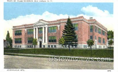 Town of Webb Schools - Old Forge, New York NY Postcard