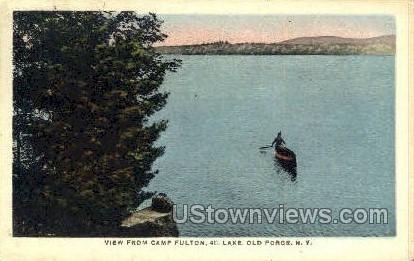4th Lake - Old Forge, New York NY Postcard