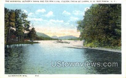 The Narrows, 4th Lake - Old Forge, New York NY Postcard