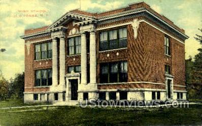 High School, Old Forge - New York NY Postcard