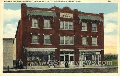 Strand Theater Bldg - Old Forge, New York NY Postcard