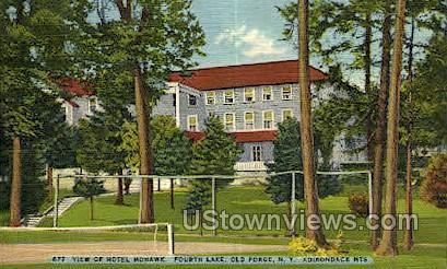Hotel Mohawk, Fourth Lake - Old Forge, New York NY Postcard