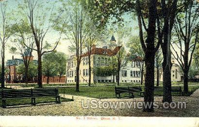 No. 3 School - Olean, New York NY Postcard