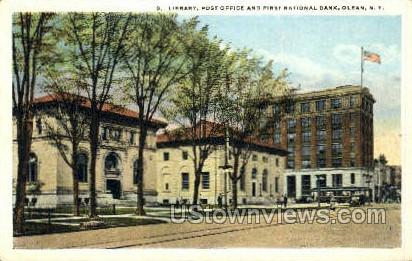 First National Bank - Olean, New York NY Postcard