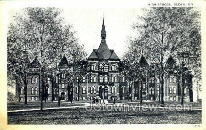 High School, Olean - New York NY Postcard