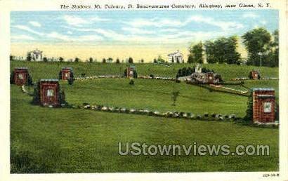 St. Bonaventures Cemetery - Olean, New York NY Postcard