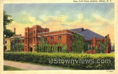 New York State Armory - Olean Postcard