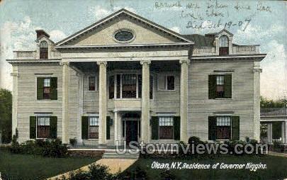 Residence of Governor Higgins - Olean, New York NY Postcard