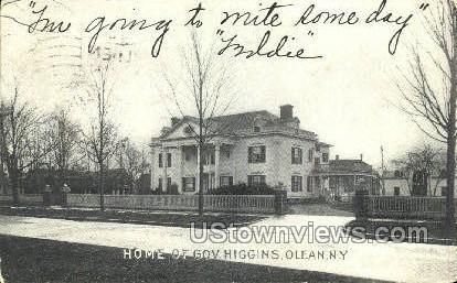 Home of Gov. Higgins - Olean, New York NY Postcard