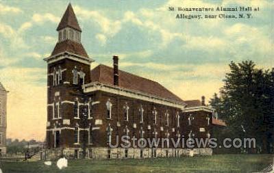 St. Bonaventure Alumni Hall - Olean, New York NY Postcard