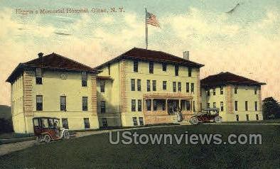 Higgins Memorial Hospital - Olean, New York NY Postcard