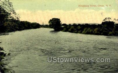 Alleghany River - Olean, New York NY Postcard