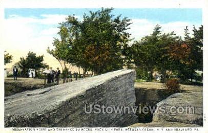 Rock City Park - Olean, New York NY Postcard