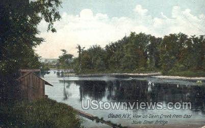 Olean Creek - New York NY Postcard