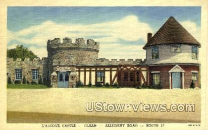 L'alcove Castle - Olean, New York NY Postcard