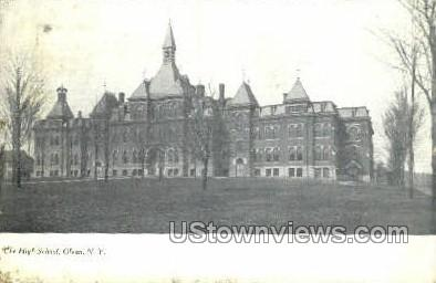 The High School - Olean, New York NY Postcard