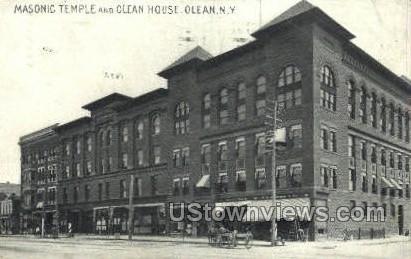 Masonic Temple - Olean, New York NY Postcard