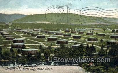 Tank City - Olean, New York NY Postcard